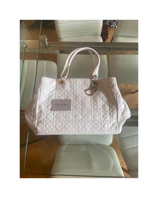 Sac à main en cuir cuir blanc Dior en coloris White