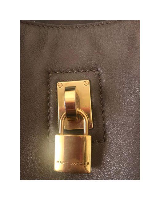 Sac XL en cuir cuir beige Marc Jacobs en coloris Natural