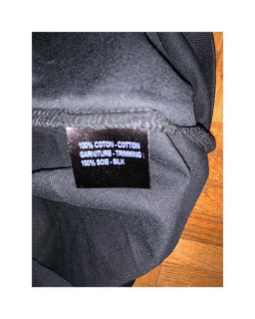 Débardeur coton noir Barbara Bui en coloris Black