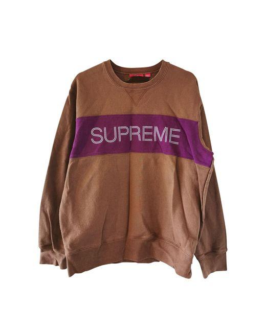 Sweat coton multicolore Supreme pour homme
