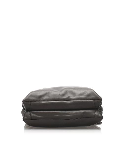 Sac en bandoulière en cuir lambskin leather autre Chanel en coloris Black