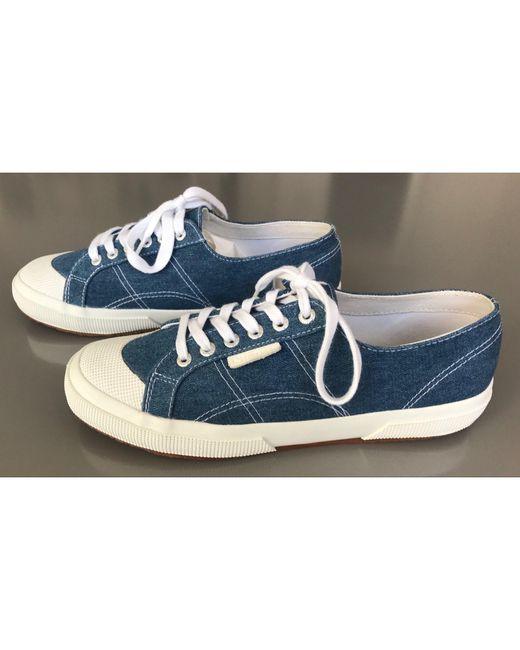 Baskets coton bleu Sandro pour homme en coloris Blue