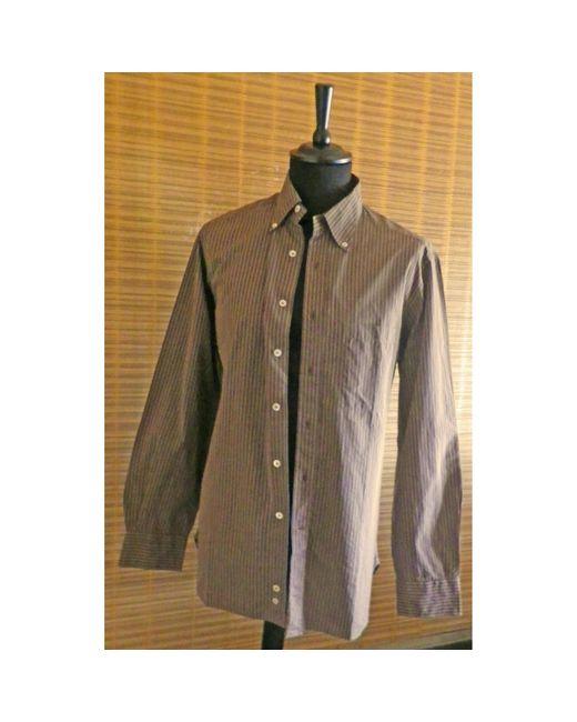 Chemise coton marron Lanvin pour homme en coloris Brown