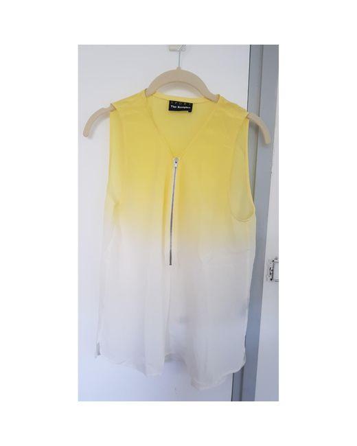 Débardeur soie jaune The Kooples en coloris Multicolor