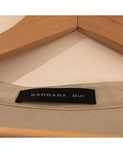 Tunique viscose beige Barbara Bui en coloris Natural