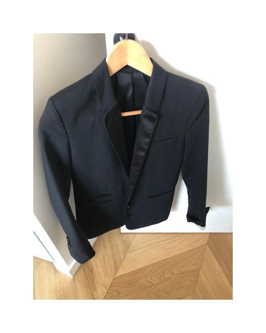 Blazer, veste tailleur coton noir The Kooples en coloris Black