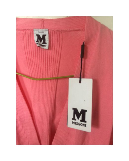 Gilet, cardigan coton rose M Missoni en coloris Pink