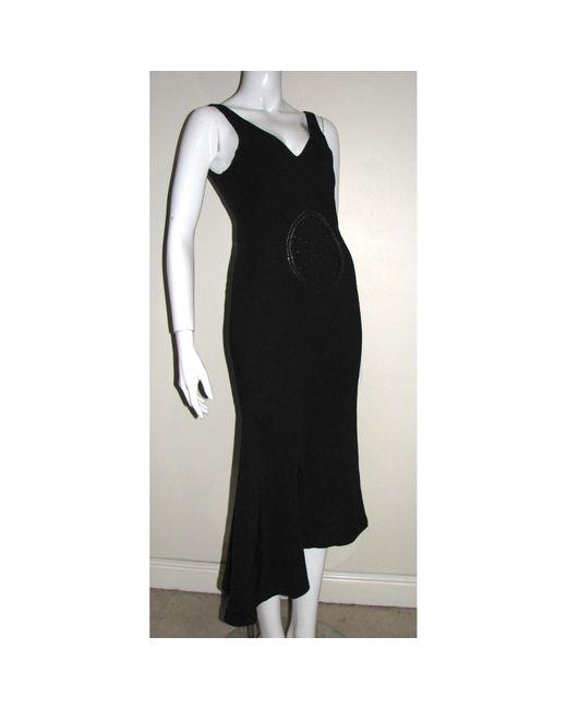 Robe longue viscose noir Joseph en coloris Black