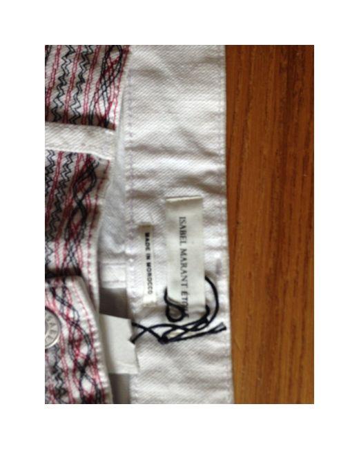 Étoile Isabel Marant Jeans slim coton blanc femme