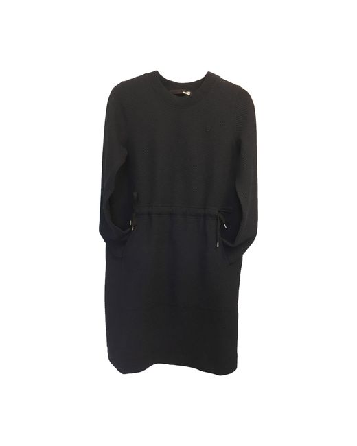 Robe mi-longue coton autre Moschino en coloris Black