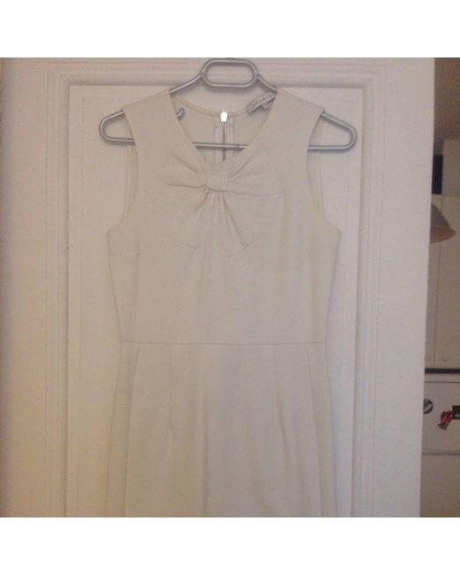 Robe courte synthétique blanc Sandro en coloris White
