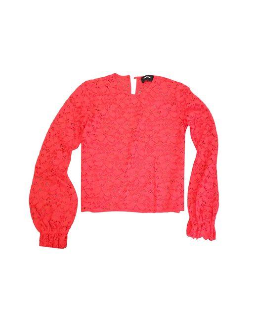 Blouse dentelle rouge The Kooples en coloris Red