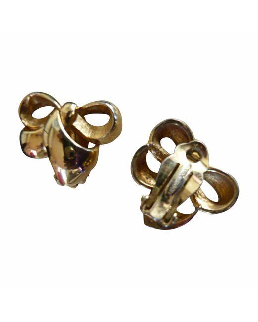 Boucles d'oreille plaqué or doré Nina Ricci en coloris Metallic