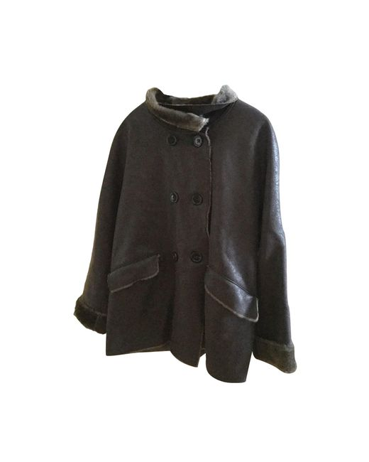 Manteau synthétique marron Gerard Darel en coloris Brown