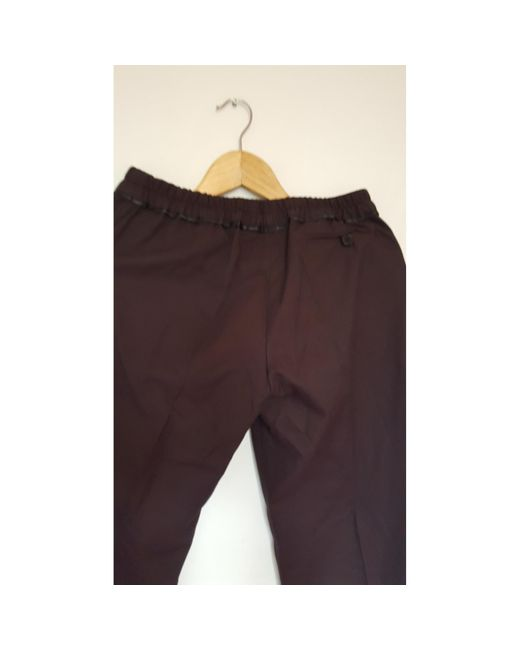 Pantalon droit coton rouge Isabel Marant en coloris Red
