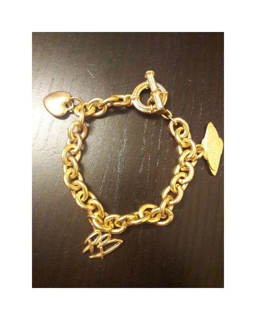 Bracelet métal doré Balmain en coloris Metallic