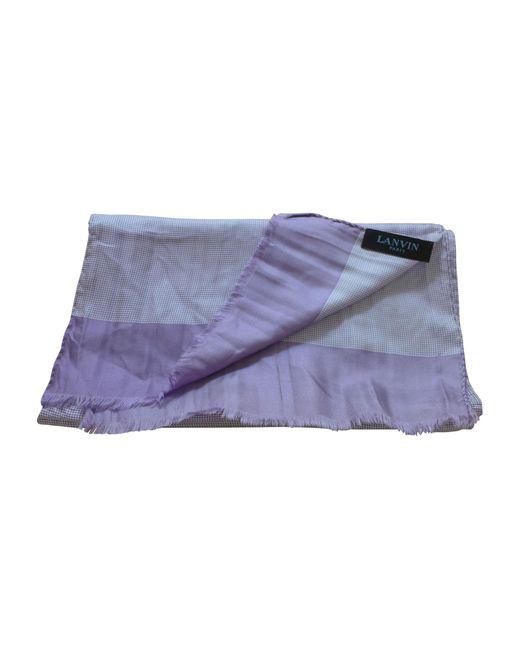 Foulard soie violet Lanvin pour homme en coloris Purple