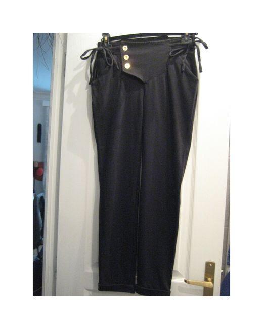 Pantalon slim, cigarette coton noir Marc Jacobs en coloris Black