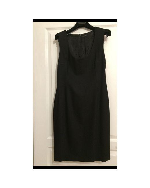 Robe mi-longue cachemire noir Joseph en coloris Black