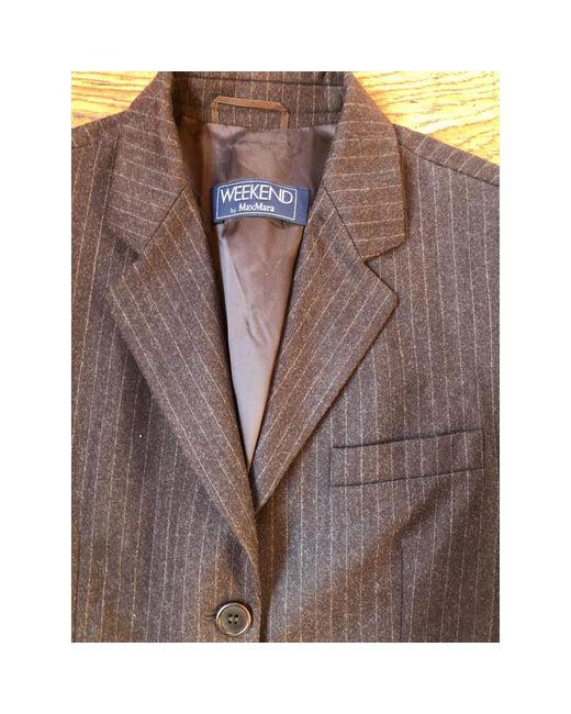 Veste laine marron Max Mara en coloris Brown