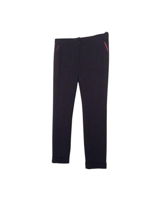 Pantalon droit polyester noir Nina Ricci en coloris Black
