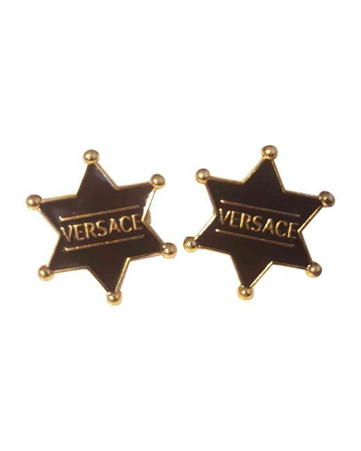 Boutons de manchette cuivre doré Versace pour homme en coloris Metallic
