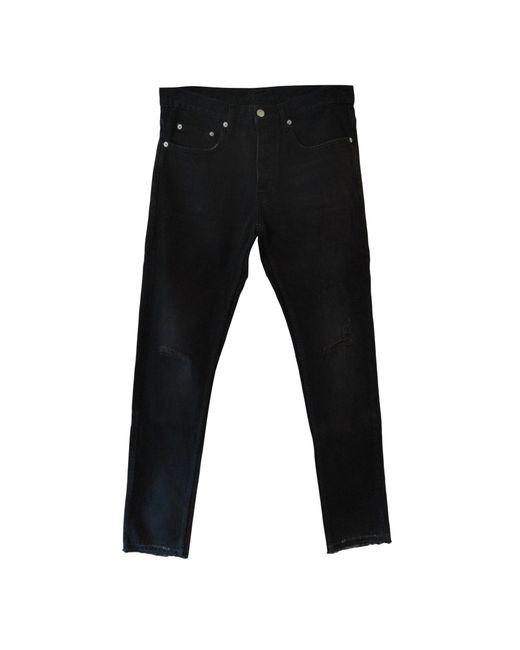 Jeans droit coton noir Sandro pour homme en coloris Black