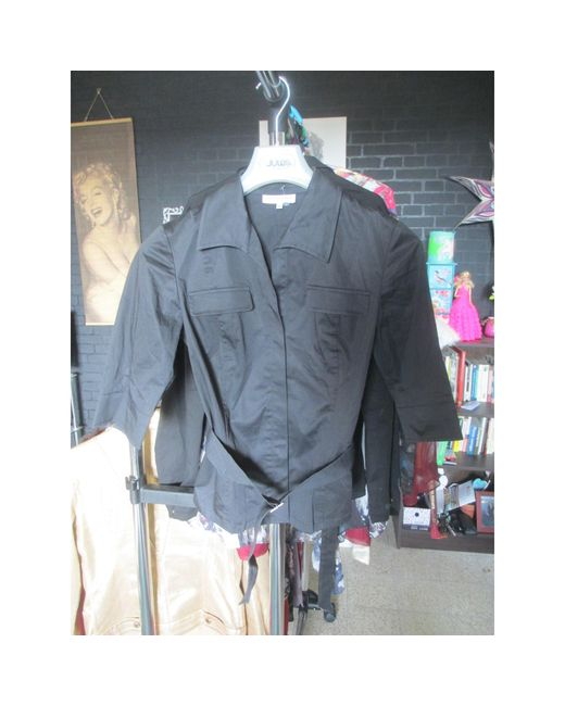 Veste coton noir Gerard Darel en coloris Black