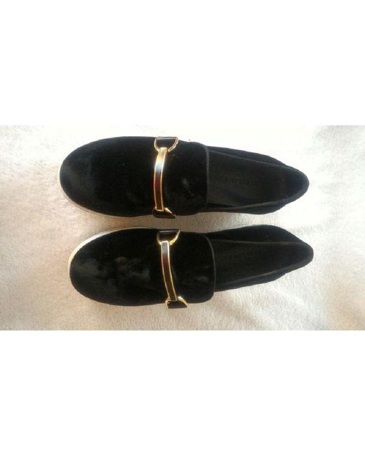 Mocassins velvet noir Stella McCartney en coloris Black