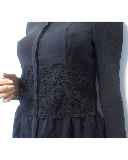 Chemisier soie noir Burberry en coloris Black