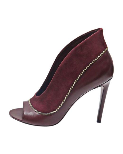 Escarpins à bouts ouverts cuir rouge Louis Vuitton en coloris Red