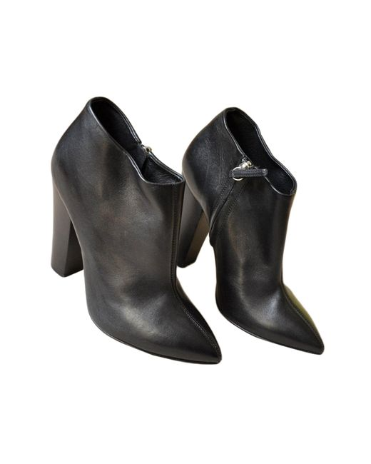 Bottines & low boots à talons cuir noir Giuseppe Zanotti en coloris Black