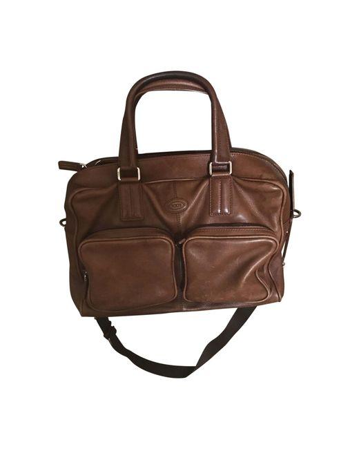 Pochette en bandoulière cuir marron Tod's pour homme en coloris Brown