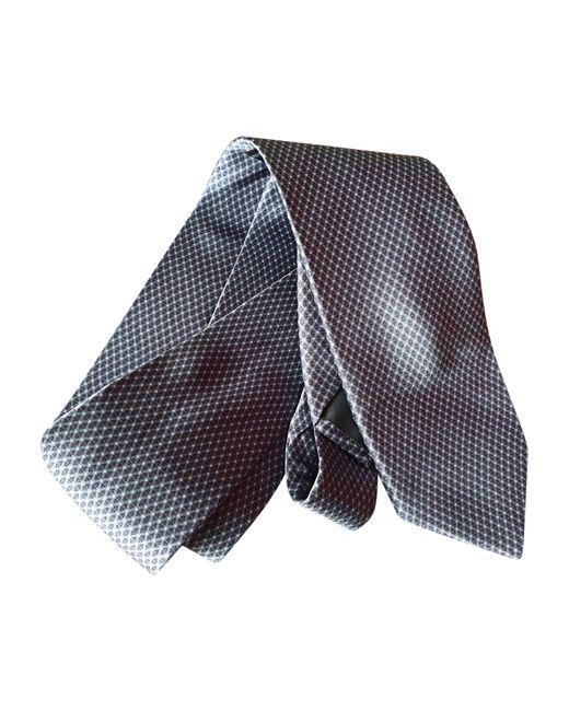 Cravate 100% soie autre Lanvin pour homme en coloris Gray