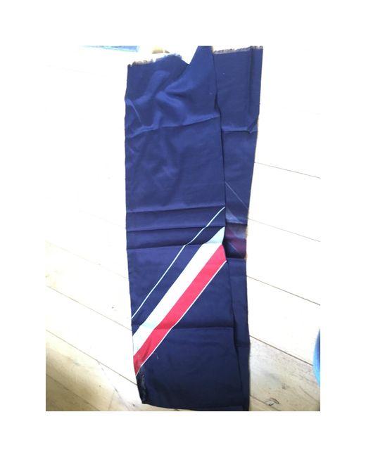 Foulard coton bleu Thom Browne pour homme en coloris Blue