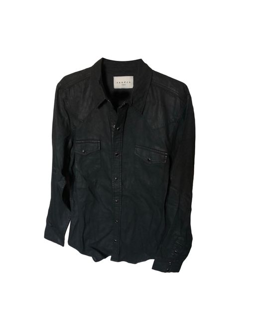 Chemise coton noir Sandro pour homme en coloris Black