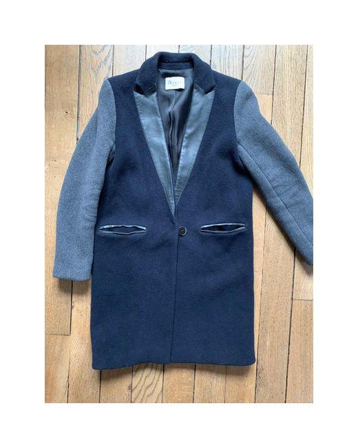 Manteau laine bleu Sandro en coloris Blue