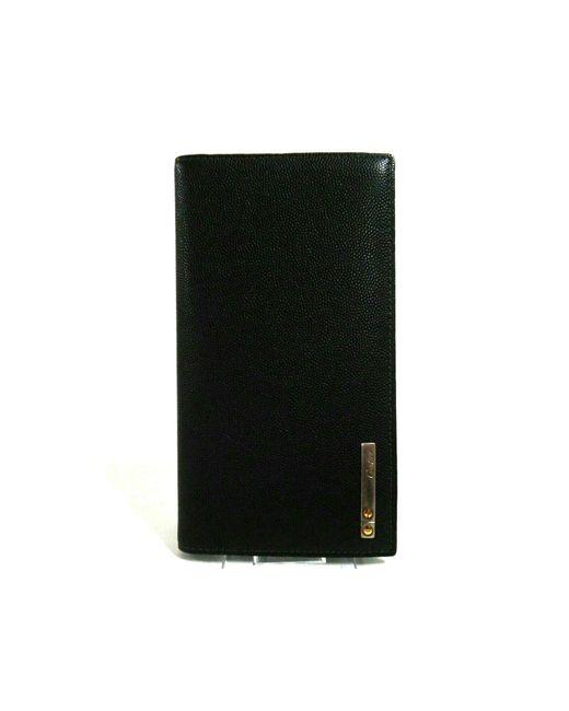 Portefeuille cuir irisé noir Cartier en coloris Black