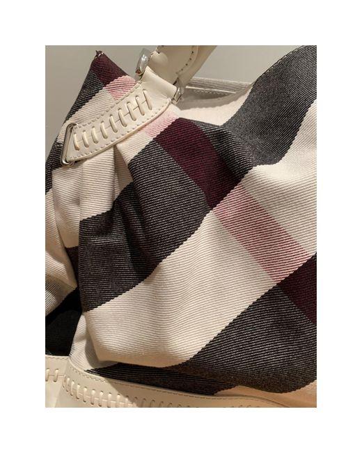 Sac XL en tissu tissu blanc Burberry en coloris White