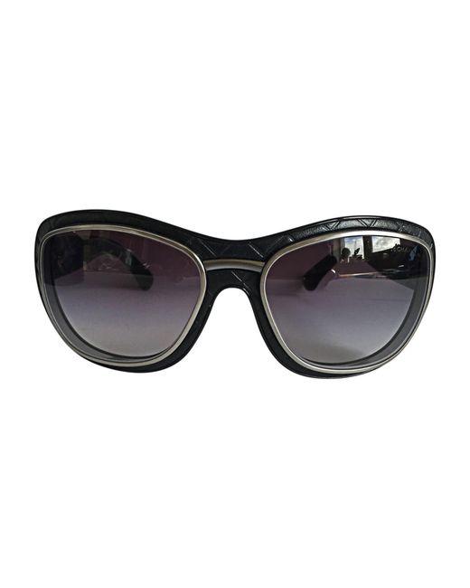 Lunettes de soleil noir Chanel en coloris Black