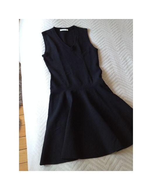 Robe courte viscose noir Sandro en coloris Black