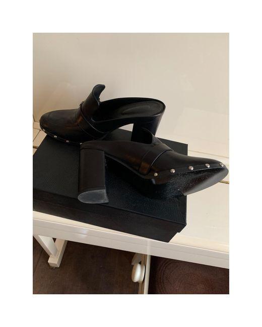 Mules cuir noir The Kooples en coloris Black
