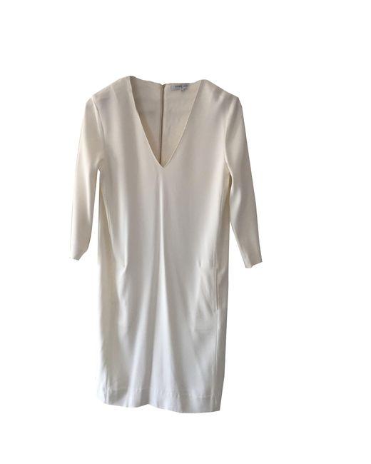 Robe mi-longue lycra blanc Gerard Darel en coloris White