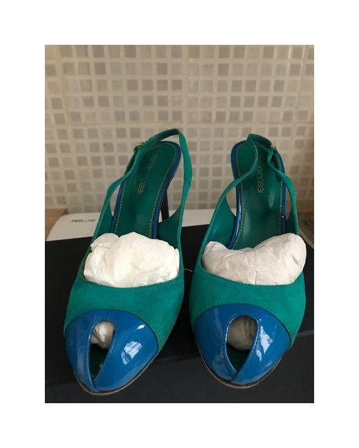 Escarpins daim bleu Sergio Rossi en coloris Blue