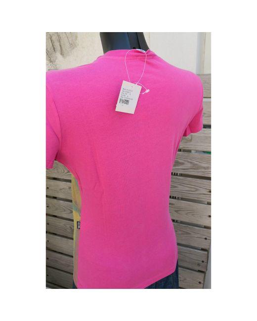 Top, tee-shirt coton rose Moschino en coloris Pink