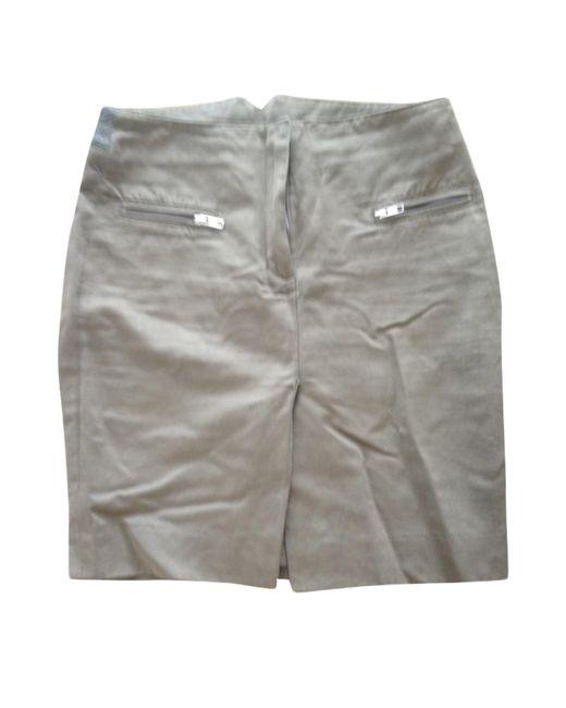 JOSEPH Jupe mi-longue coton kaki femme de coloris gris Q9gdR