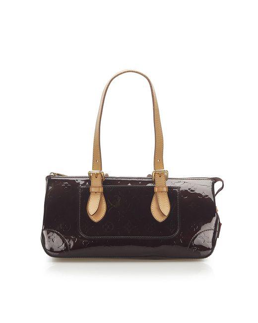Sac à main en cuir vernis leather autre Louis Vuitton en coloris Black