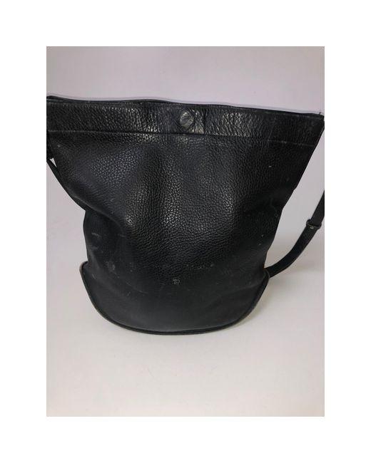 Sac en bandoulière en cuir cuir noir Delvaux en coloris Black
