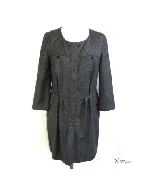 Robe courte laine gris Étoile Isabel Marant en coloris Gray