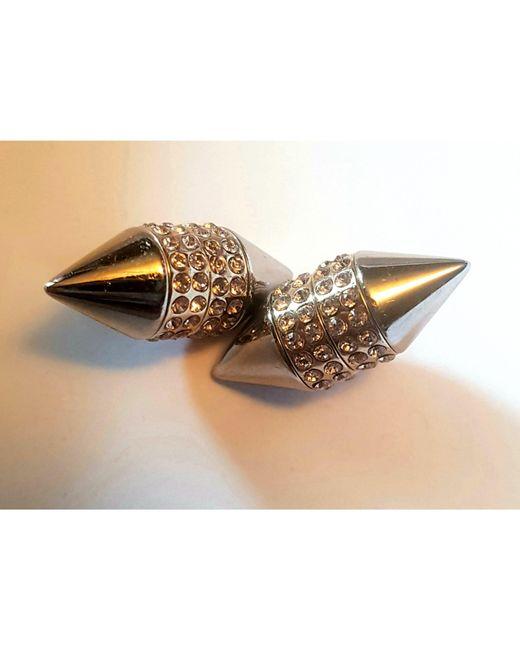 Boucles d'oreille acier argent Givenchy en coloris Metallic